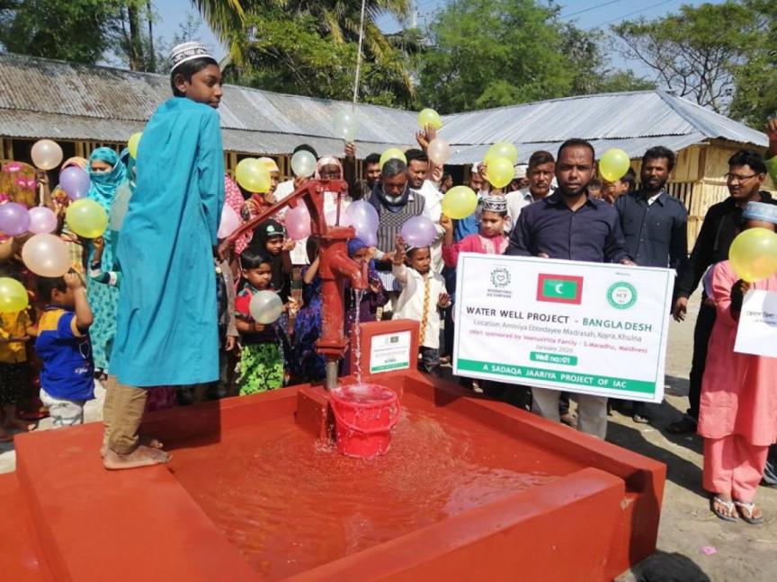 Maldivian Family Gifts Clean water to Bangladesh