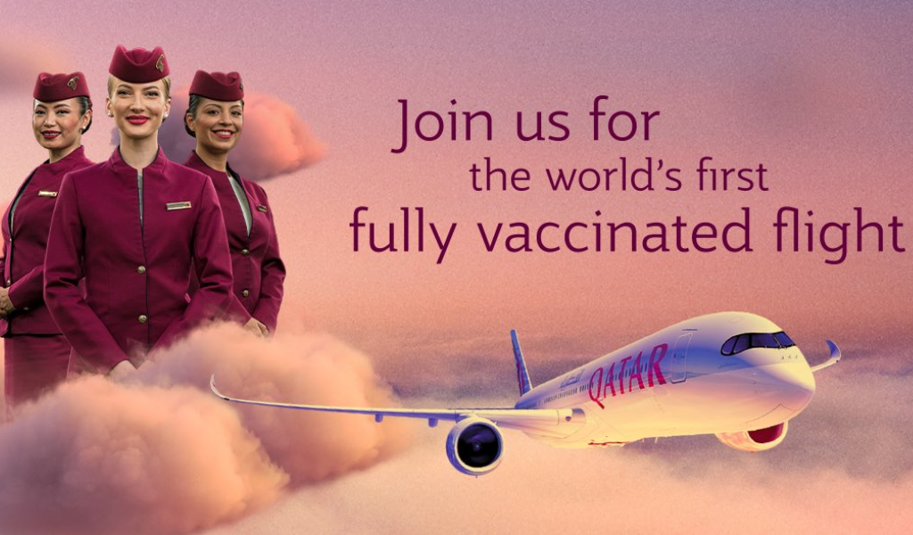 Mark Your Calendars, the World's First Fully-Vaccinated Flight Is About to Take Off!