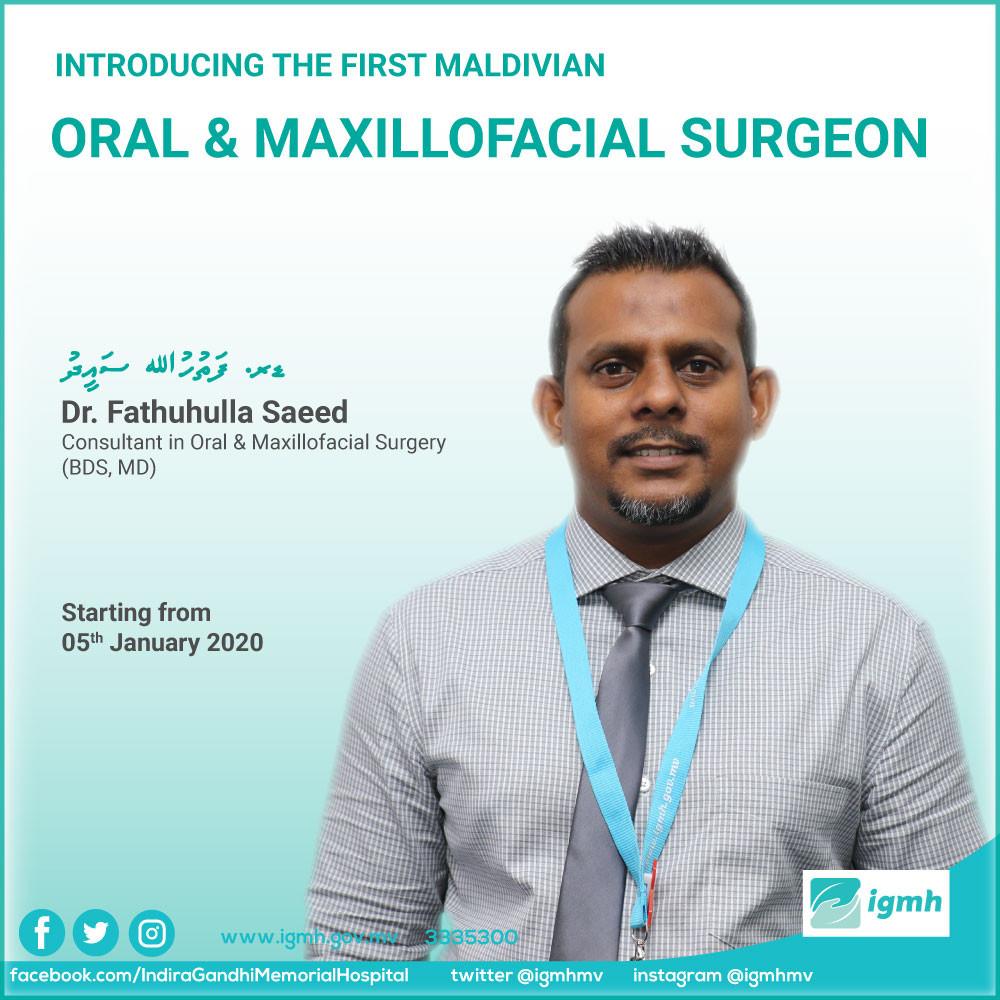 Fathuhulla Saeed: First Maldivian Face Surgeon