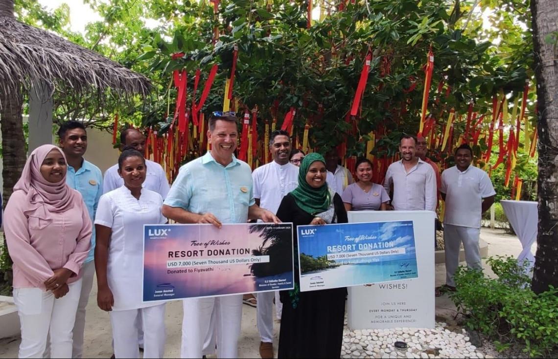 LUX* South Ari Atoll Donates USD 14,000