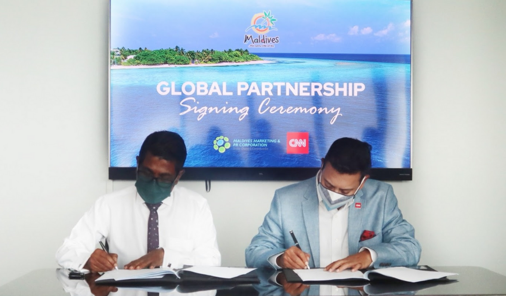 Visit Maldives works in collaboration with CNN International Commercial to promote The Maldives.