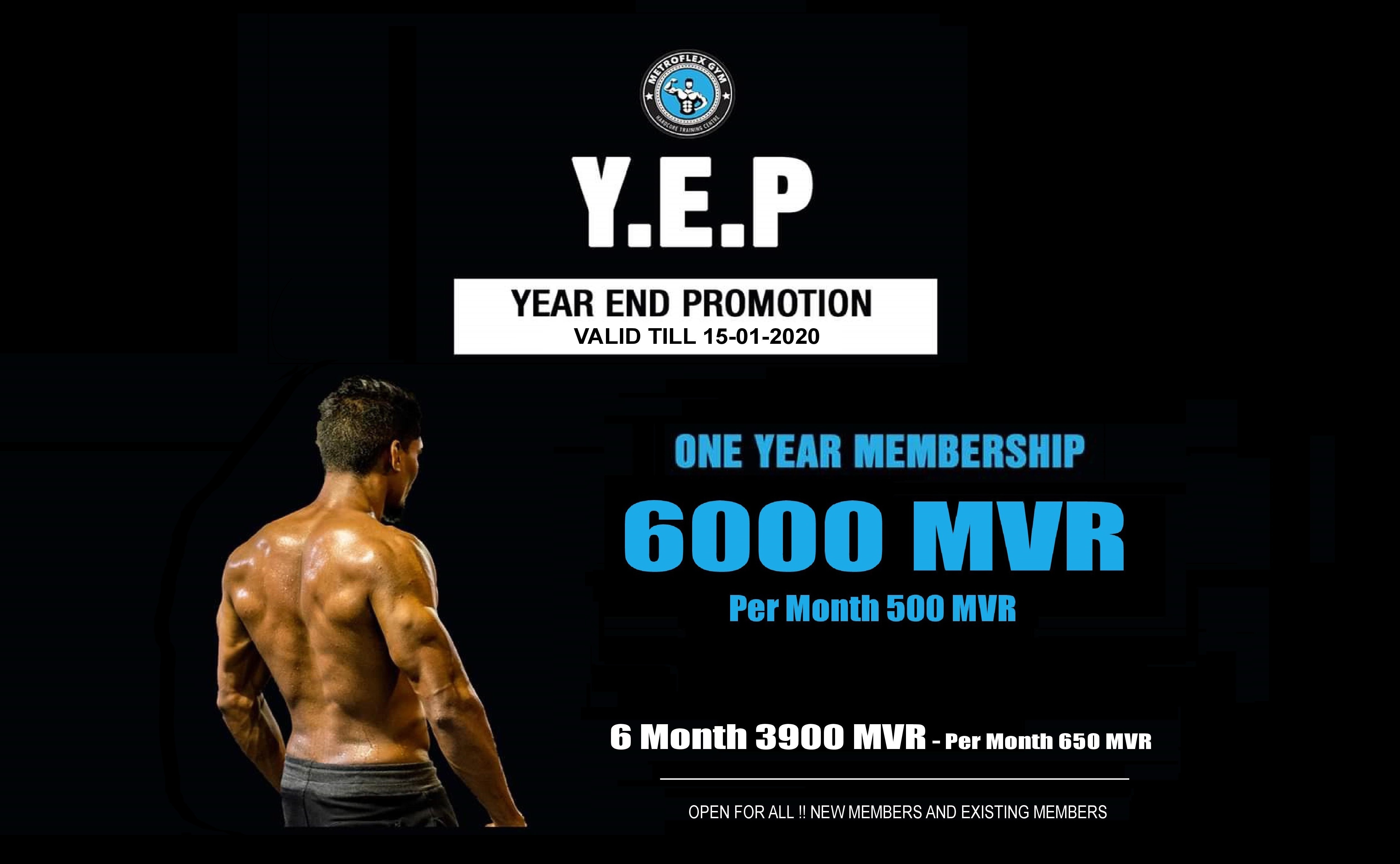 Metroflex Gym- Year End Promotion