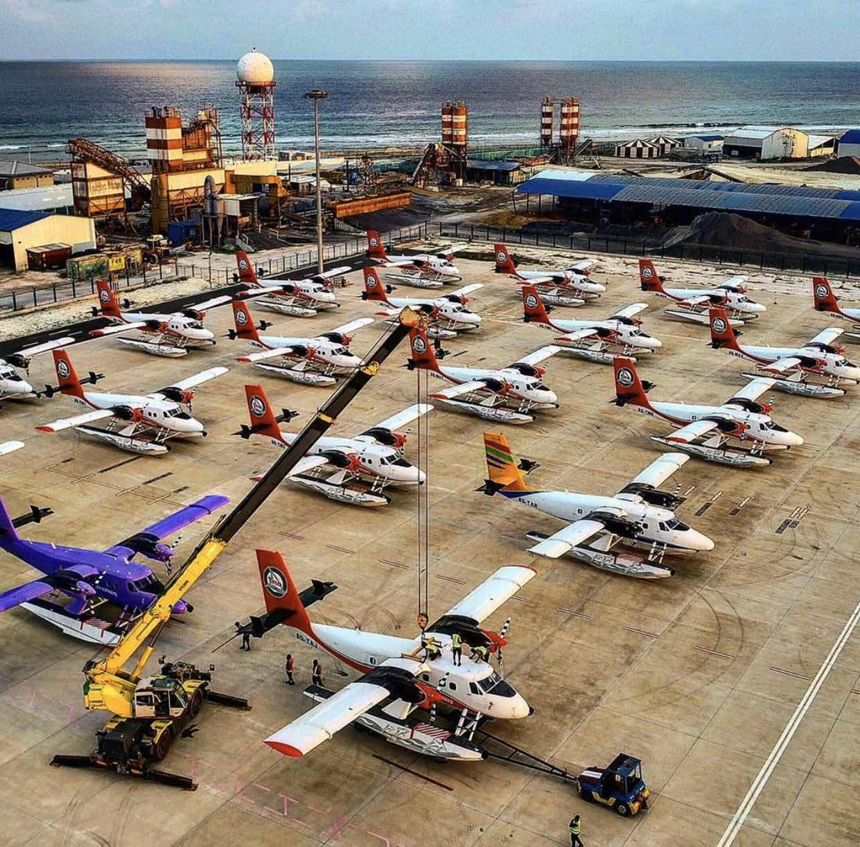 COVID19- Seaplanes Stored as Air Travel Stops