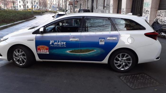 Maldives taxi Ad Campaign in Italy