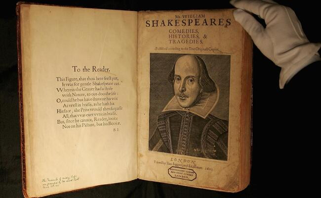 Rare Shakespeare Book to Be Sold For $6 Million