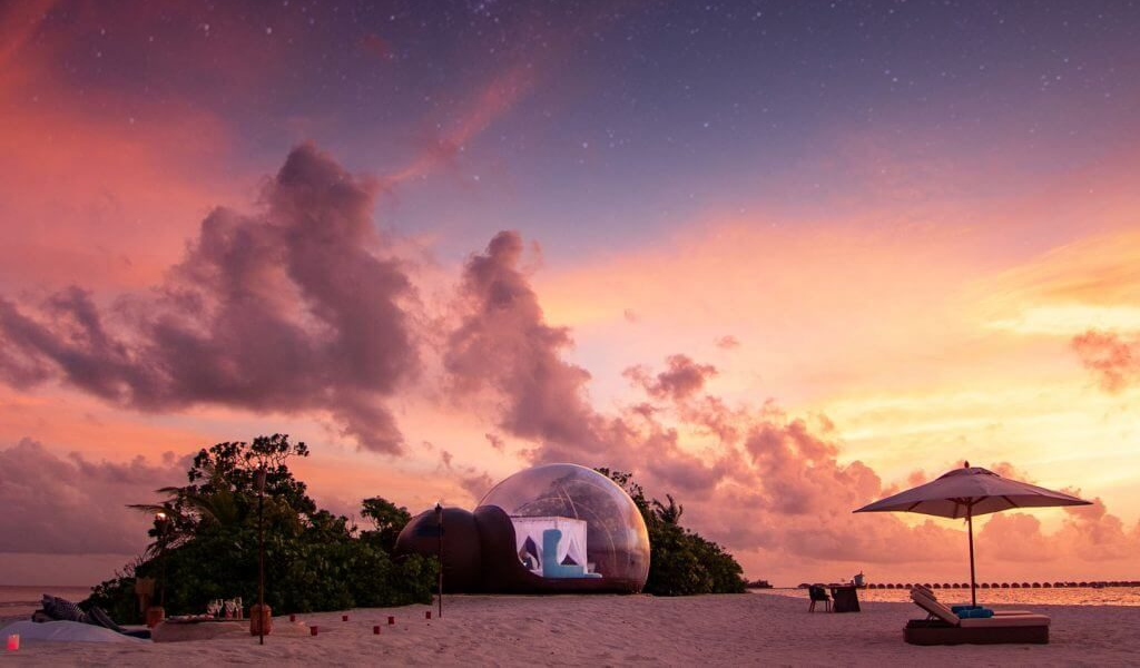 Safe Vacations: Escape to Maldives & Sleep in a Bubble Tent
