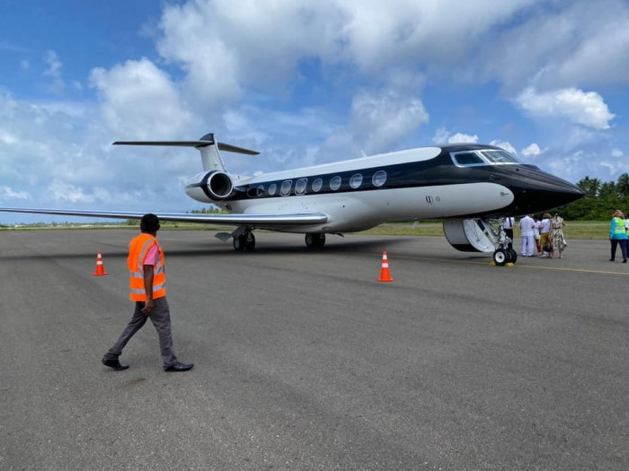 Kooddoo Airport Welcomes First Private Jet
