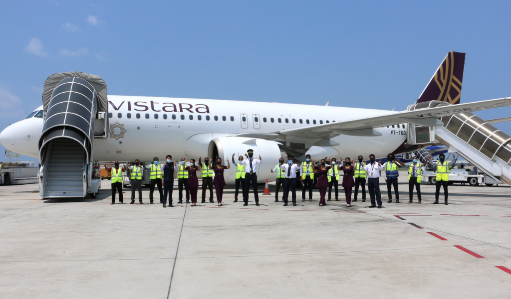 Inaugural Flight of Vistara Airlines from Mumbai to Male Touches Down at VIA